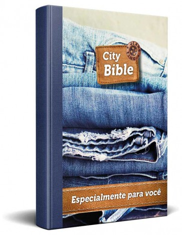 Portuguese New Testament Bible Jeans Cover